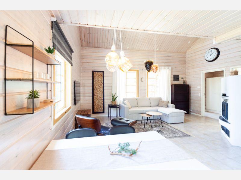 Villa Lapintiira Open Consept Living Area