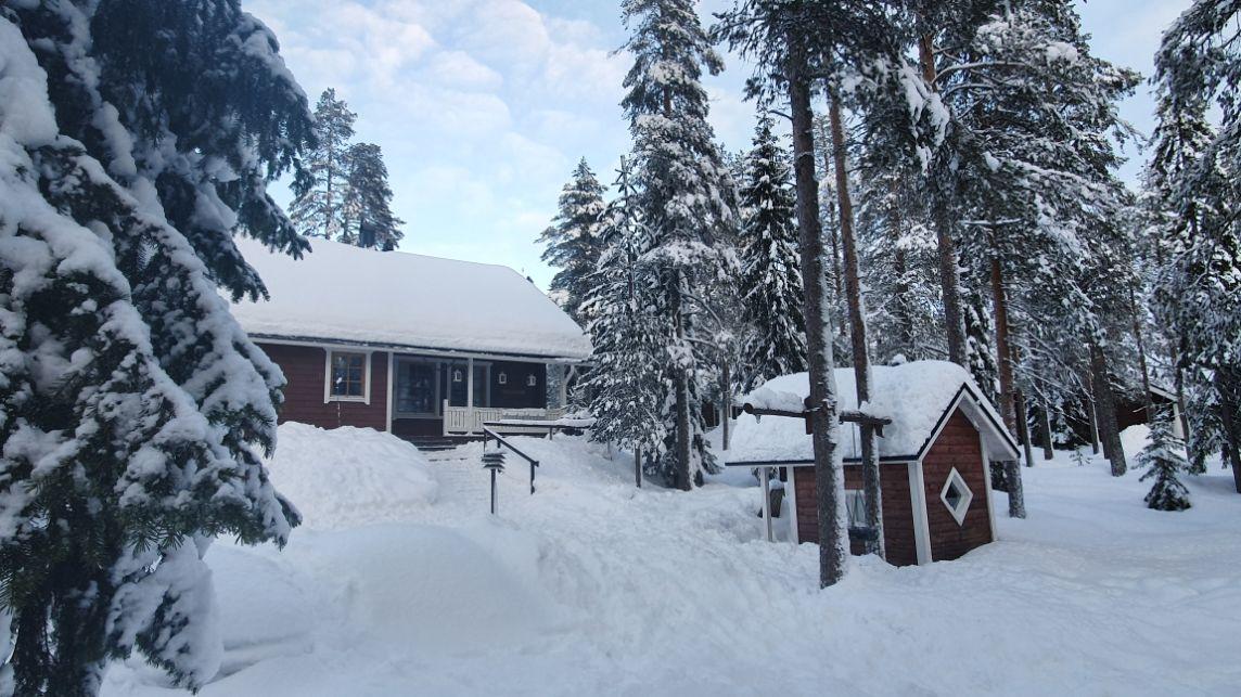 Villa Lapintiira at Wintertime
