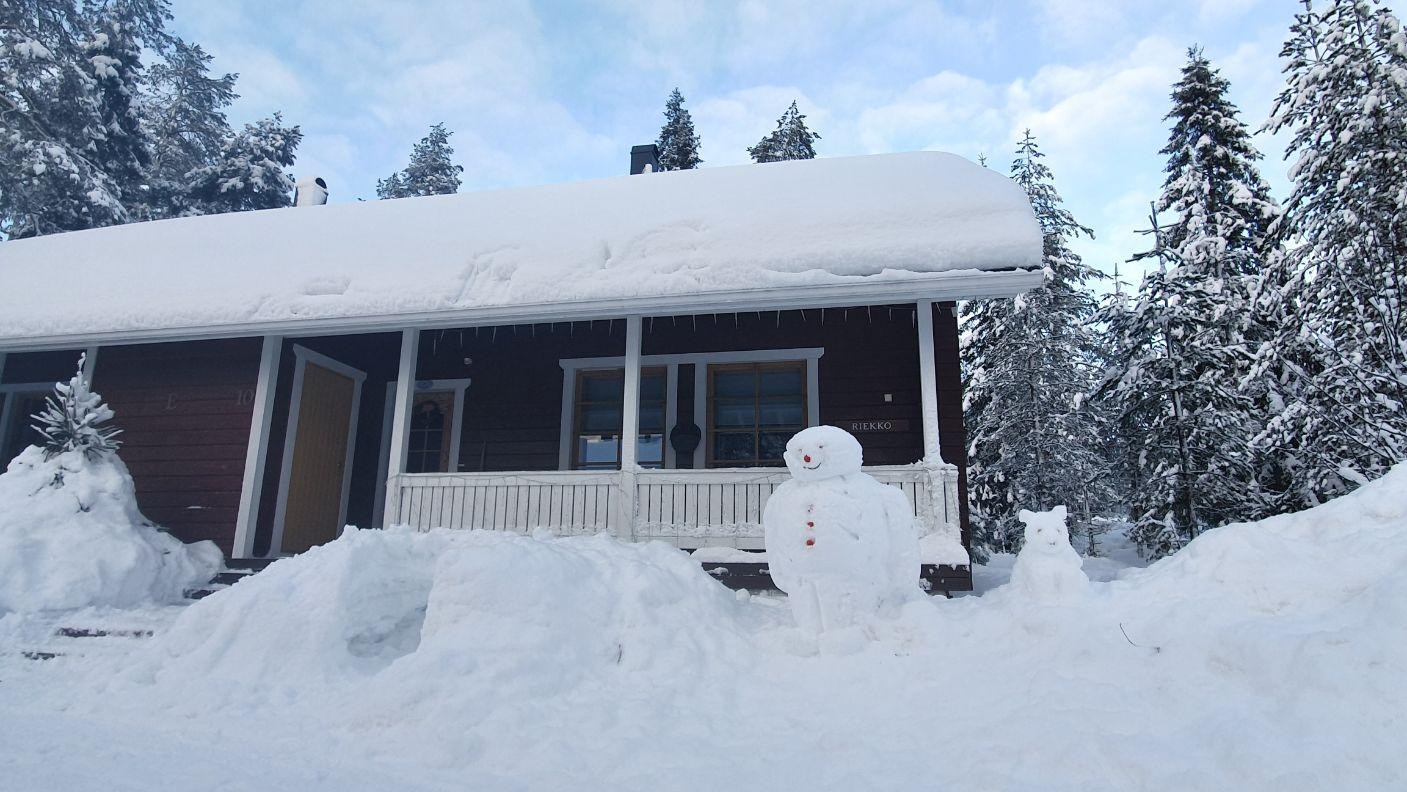Riekko Chalet and Snowman